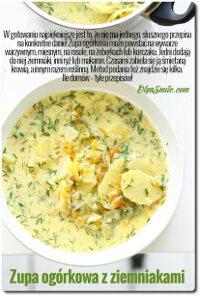 Zupa ogórkowa z ziemniakami