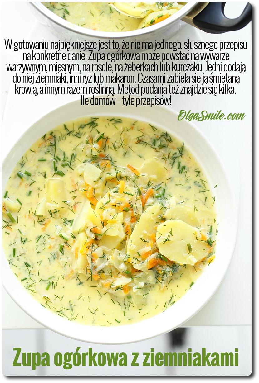 Zupa Ogorkowa Z Ziemniakami Przepis Olga Smile