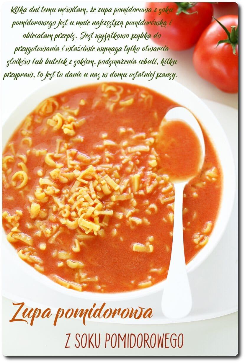 Zupa pomidorowa z soku pomidorowego