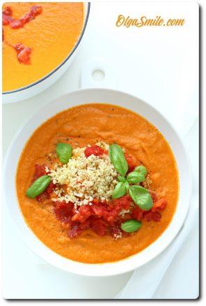 Zupa pomidorowa z kaszą jaglaną i pomidorami Łowicz