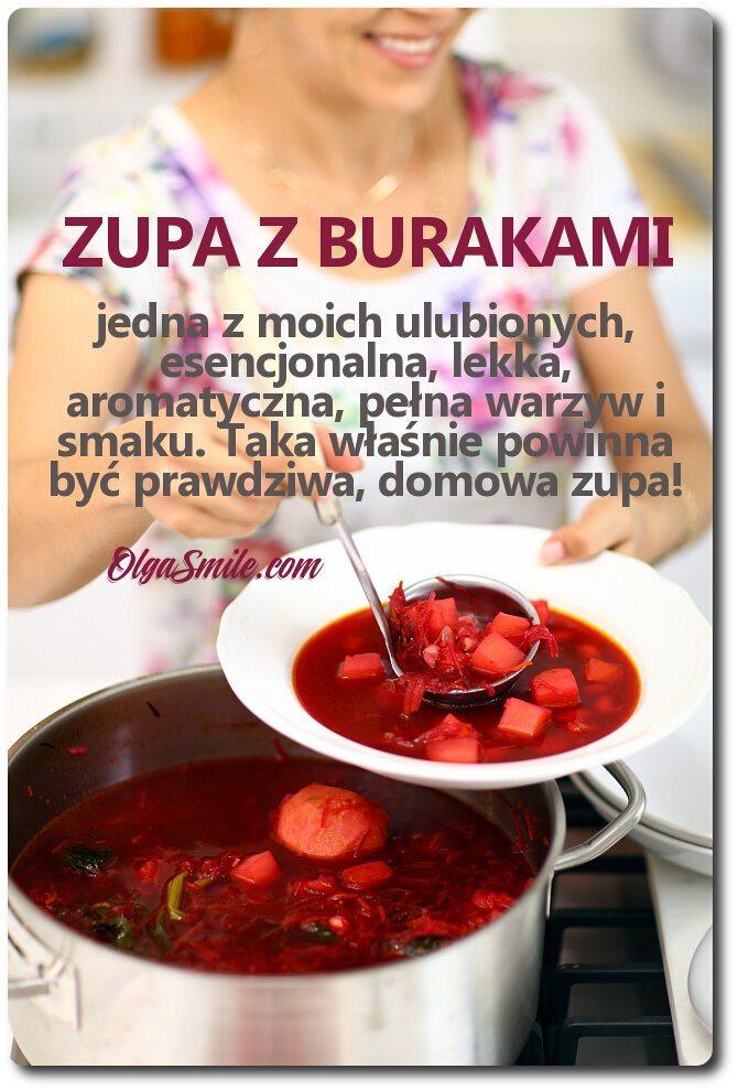 Zupa z burakami przepis Olga Smile