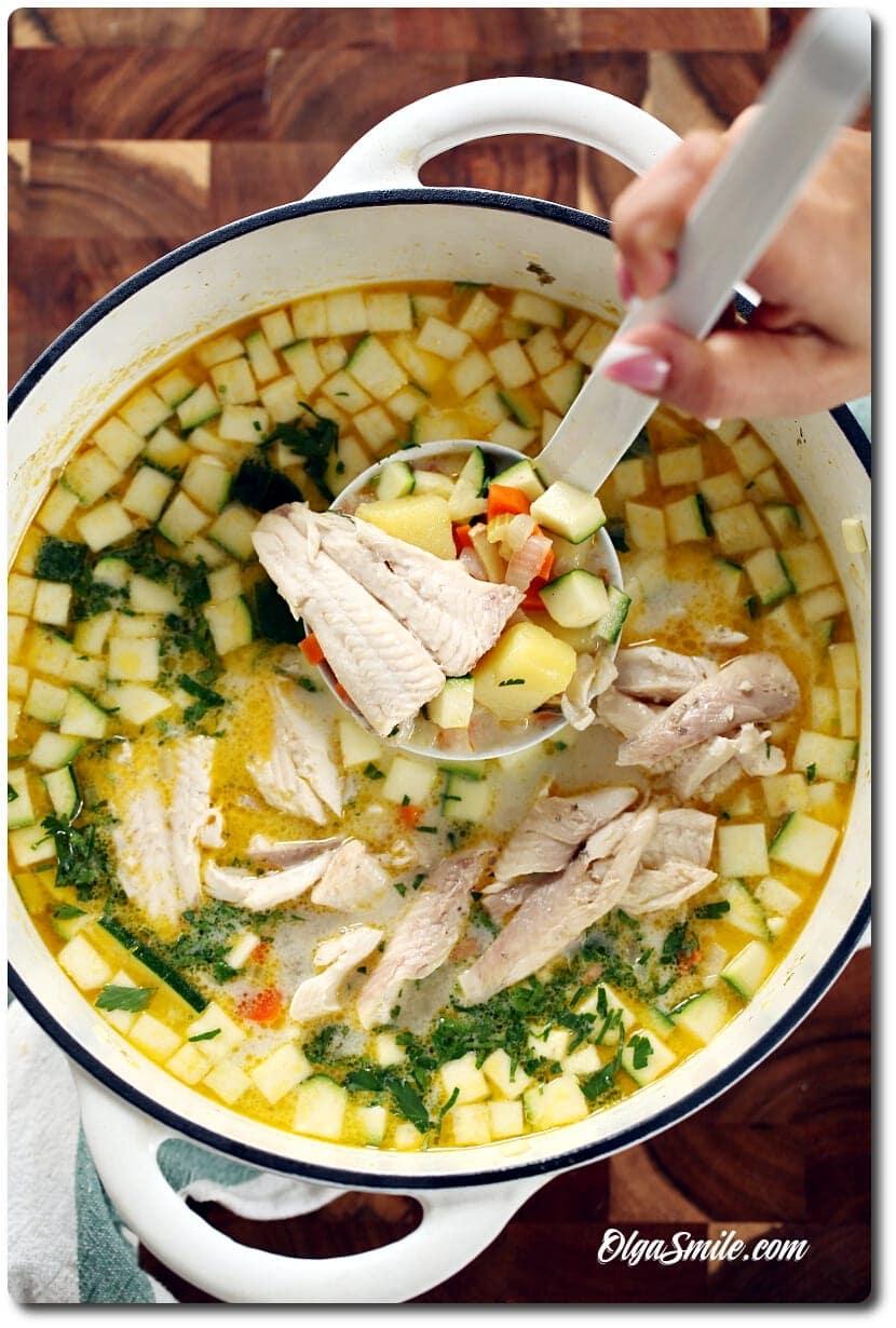 Zupa z pstrąga