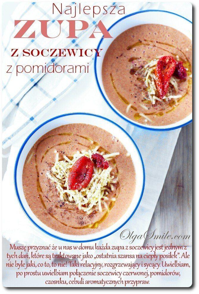 Zupa z soczewicy z pomidorami